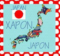 El mapa de Japón superanimado y ssissimono
