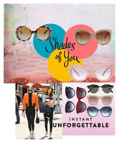 """Shades of You: Sunglass Hut Contest Entry"" by stonge-02 on Polyvore featuring Ray-Ban, STELLA McCARTNEY, Oscar de la Renta, Alexander McQueen, Miu Miu, Prada and shadesofyou"