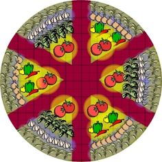 Check it out 32 x 32 potager vegetable garden layout plus