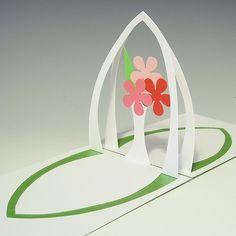 Kirigami – Flower Arcade Pattern http://www.pinterest.com/cpfluster/pop-ups/