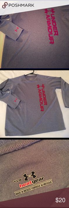 Youth large heat gear YLG Under Armour Under Armour Shirts & Tops Tees - Long Sleeve