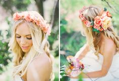 flower crown wedding