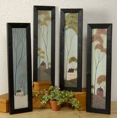 Seasons by artist Warren Kimble shows Spring, Summer, Fall and Winter.