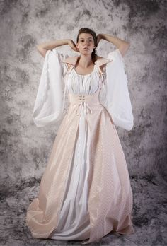 Bodice Dress Gown Renaissance Medieval Costume