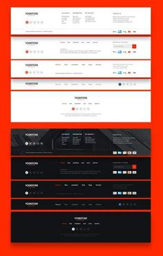 Design Website Footer Ideas Source by Monzzinga Wireframe Design, Navigation Design, Footer Design, Web Ui Design, User Interface Design, Page Design, Design Design, Modern Design, Design Ideas
