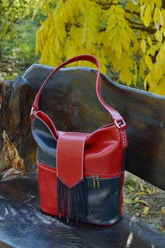 women handbags and purses Leather Purses, Leather Handbags, Red Leather, Leather Crossbody, Leather Fringe, Leather Totes, Large Shoulder Bags, Leather Bags Handmade, Everyday Bag