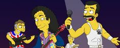 Queen like the Simpsons 😂😍 Queen comme les Simpson 😍😂 Queen Freddie Mercury, Queen Love, Save The Queen, John Deacon, Queen Banda, Freedie Mercury, Rock Y Metal, Rock Poster, Queens Wallpaper