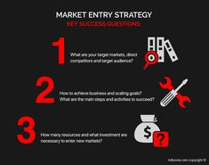 #Market #entry #strategy. Suppose you offer certain services (products) and plan to enter a market on which there is already a similar product. With the help of market research for your startup or business expansion, you can determine the intensity of the development of the market segment and product saturation. If the market progresses and there is a shortage of products, you can count on the profitability of your project.