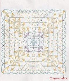 Discover thousands of images about Crochet Curtains + Diagrams Crochet Motif Patterns, Granny Square Crochet Pattern, Crochet Blocks, Crochet Diagram, Crochet Chart, Crochet Squares, Crochet Curtains, Crochet Tablecloth, Crochet Doilies