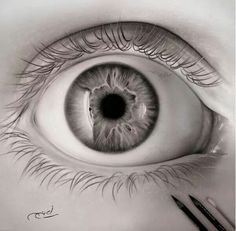 Realistic Black and Gray eye drawing with charcoal on paper by Ayman Arts Realistic Eye, Gray Eyes, Sketch Painting, Learn To Draw, Art Reference, Black And Grey, Art Gallery, Sketches, Drawing Eyes