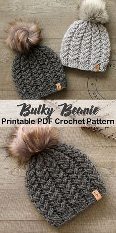 Make a cozy hat. bulky hat crochet patterns- winter hat crochet pattern- amorecr… Make a cozy hat. bulky hat crochet patterns- winter hat crochet pattern- amorecr…,Gehäkelte Mütze Make a cozy hat. Crochet Crafts, Crochet Yarn, Crochet Stitches, Easy Crochet Hat, Baby Hat Crochet, Crochet Winter Hats, Plaid Crochet, Crochet Adult Hat, Diy Crochet Projects
