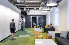 Floor-to-ceiling whiteboards  at Meltwater | design Blitz San Francisco