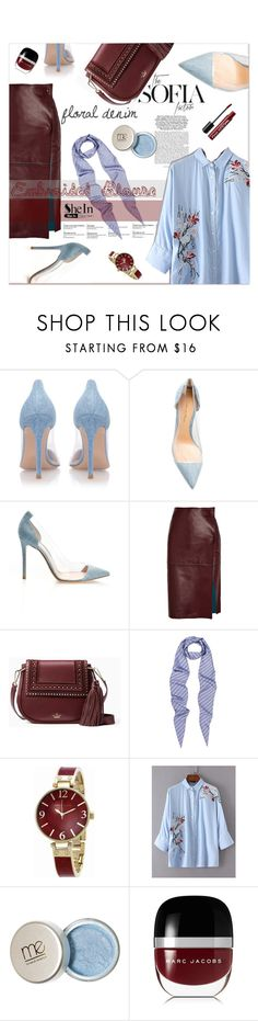 """""""Embroided blouse/ Floral denim"""" by zogra on Polyvore featuring mode, TBA, Gianvito Rossi, By Malene Birger, Martha Stewart, Kate Spade, Balenciaga, Anne Klein, Marc Jacobs et Charlotte Russe"""