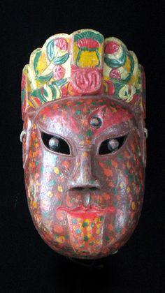 Classic Chinese Nuo Mask from Guangxi, China, masks