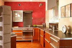 #Kitchen Idea of the Day: Modern Two-Tone Kitchens. Wild colors!