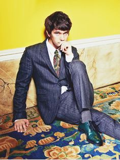 "Ben Whishaw photographed by Dylan Don in a photo shoot (blown up) for ""GQ"" UK magazine......."