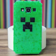 Creeper Minecraft phone cover perler beads by  brunnaschnorr