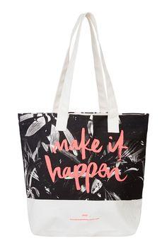 Lorna Jane - Make It Happen Tote Bag (Black & White Print), $24.99