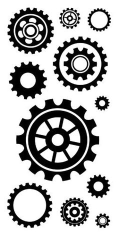 Inkadinkado - Clear Acrylic Stamps - Cogs and Gears: