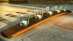 Whisky Stave Candle Holder