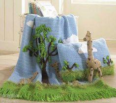 Decke mit Baum