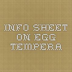 info sheet on egg tempera