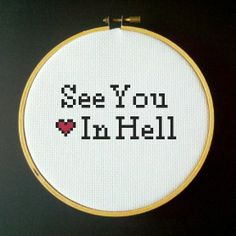 See You In Hell Cross Stitch PDF Pattern by LadyBeta on Etsy, $3.00