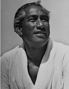 celebrates the 125th birthday of Duke Kahanamoku, a Hawaiian credited with spreading the sport of surfing to California, Australia and New Zealand.