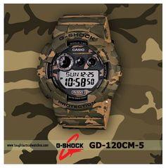 G-Shock GD-120CM-5 Woodland Camo Series