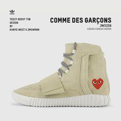 Yeezy Boost 750 / COMME des GARÇONS #yeezyboost750 #yeezy #customshoes #design #commedesgarcons #commedesgarcon #commedesgarconsplay #commedesgarçons