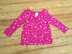 Little Miss Attitude 2T pink star long sleeve shirt