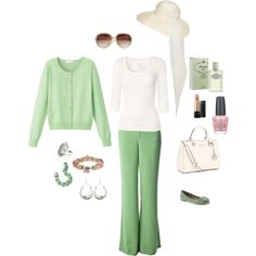 Lime green summer outfit - perfect for a late evening out.