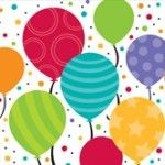 Shimmering Balloons Beverage Napkins, 2-Ply - 192 per case  Product # :651902  $9.74