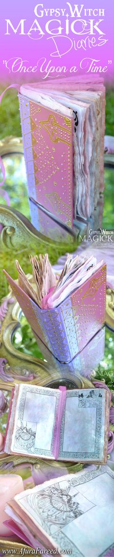 """#Handmade #Fantasy #Journals by OddSoul Designs: """"Gypsy-Witch Magic Diaries"""""""