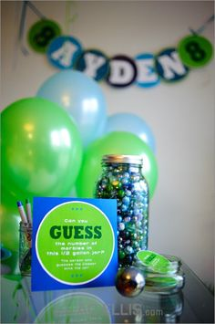 Blue & Green Birthday Party Decor