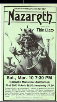Nazareth with Thin Lizzy opening !