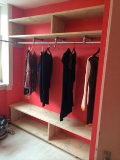 Armario de madera A Healthy Approach To Stress Article Body: Different people get bothered for diffe Diy Closet Shelves, Diy Bett, Closet Layout, Master Bedroom Closet, Closet Designs, Walk In Closet, Diy Furniture, Diy Home Decor, Bedroom Decor