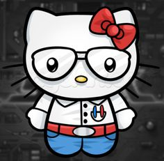 How to Draw Nerd Hello Kitty, Step by Step, Characters, Pop Culture, FREE Online Drawing Tutorial, Added by Dawn, September 14, 2013, 3:50:19 pm