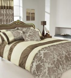 APACHI SUPER KING SIZE DUVET COVER BEDDING SET - BROWN / CREAM: Amazon.co.uk: Kitchen & HomePrice:£29.99 + £4.99 delivery