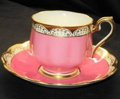 Royal Albert Hot-Doggity-Pink  Tea cup and saucer
