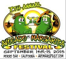 Morro Bay Avocado & Margarita Festival on September 14 & 15. (Saturday 11 am-7 pm, Sunday 11 am-4 pm). Enjoy the BEST California Avocados in all variations of culinary delights as well as refreshing margaritas, beer, local wines, specialty foods, live entertainment, arts and crafts vendors & the beautiful Embarcadero, Morro Bay. You could win a Year Supply of #Avocados! #margaritafestival #avocadofestival
