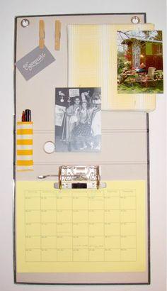 Kalender-Pinnwand aus Aktenordner