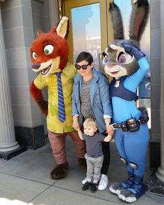 I got to see Judy and Judy together or well her voice Gennifer Goodwin! I can't believe I got to see her and Josh Dallas and their super cute boy all together and with Nick and Judy! Disney Parks, Disney Pixar, Walt Disney, Disney Love, Disney Magic, Sean Maguire, Nick And Judy, Ginnifer Goodwin, Disney Face Characters
