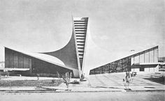 glesia de la Santa Cruz, calle 13, col. Aviacion Industrial, San Luis Postosi, México 1967   Arq. Enrique de la Mora y Félix Candela -  Church of the Holy Cross, San Luis Postosi, Mexico 1967