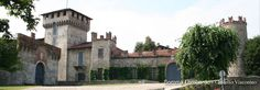 Scorcio del meraviglioso e ben conservato Castello Visconti di San Vito, luogo di eventi e visite guidate, a Somma Lombardo.
