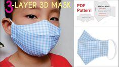 CHILD'S 3 Layer 3D Face Mask | PDF Face Mask Pattern | DIY Face Mask For Kids