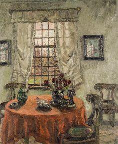 Im Kaldenkirchener Rokoko-Pavillon, August von Brandis, German Impressionism