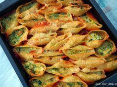 Conchiglioni con ricotta e spinaci (zapečené těstoviny se špenátem a ricottou)