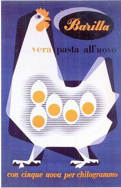 Vintage Barilla Pasta Ads by Erberto Carboni Vintage Food Posters, Vintage Italian Posters, Pub Vintage, Vintage Advertising Posters, Vintage Labels, Vintage Advertisements, Poster Vintage, 1950s Advertising, Poster Retro