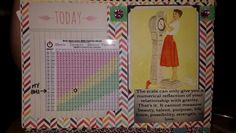 Weight Loss Smash Book Journal BMI page layout idea